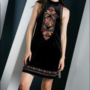 THML Dress  THML Black Velvet Dress M NWOT Black